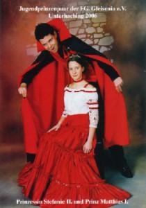Jugendprinzenpaar der Saison 2005/2006 Prinz Matthias I. und Prinzessin Stefanie II.