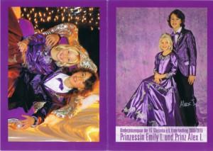 Kinderprinzenpaar der Saison 2009/2010 Prinz Alex I. und Prinzessin Emily I.