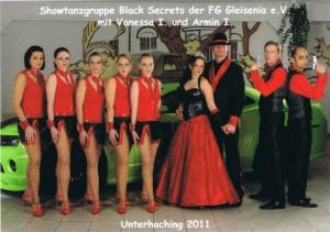 Showtanzgruppe Black Secrets der Saison 2011