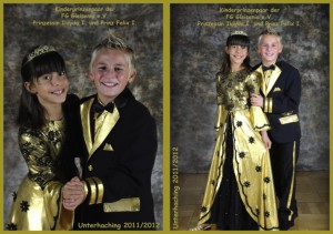 Kinderprinzenpaar der Saison 2011/2012 Prinz Felix I. und Prinzessin Ilayda I.