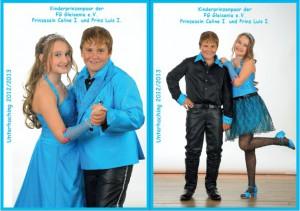 Kinderprinzenpaar der Saison 2012/2013 Prinz Luis I. und Prinzessin Celine I.