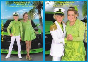 Kinderprinzenpaar der Saison 2013/2014 Prinzessin Lisa I. und Prinz Julian I.