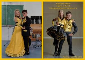Kinderprinzenpaar der Saison 2015/2016 Prinzessin Julia I. und Prinz Simon I.